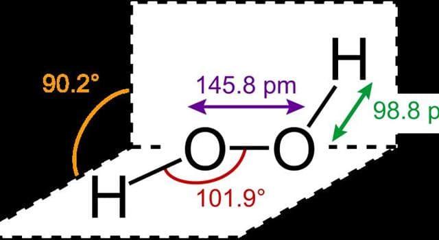 Сiencia Trivia: ¿Qué compuesto químico tiene la fórmula H2O2?