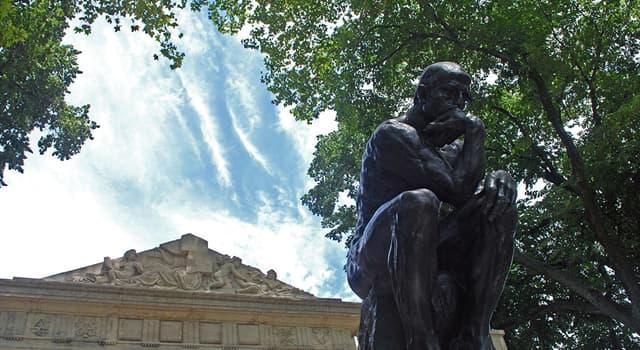 """Kultur Wissensfrage: Welcher Bildhauer ist durch sein Werk """"Der Denker"""" bekannt?"""