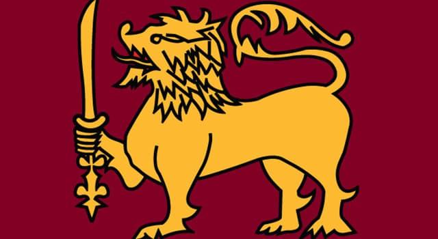 Natur Wissensfrage: Wessen Nationalflagge zeigt einen goldenen Löwen, der ein Schwert hält?