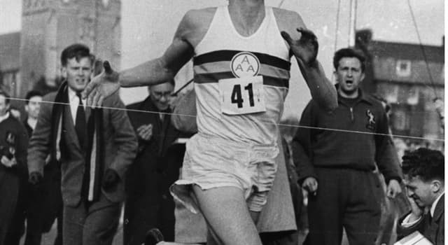 Sport Trivia Question: Who was the first person to run the mile in under 4 minutes?