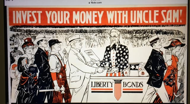 History Trivia Question: Why did the US government originally sell Liberty Bonds to American citizens?