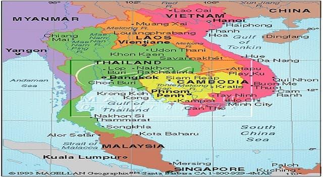 Geografía Pregunta Trivia: ¿A qué península pertenecen los países: Camboya, Vietnam, Laos, Birmania, Tailandia, Singapur y Malasia?