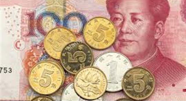 Cultura Pregunta Trivia: ¿Cuál es el nombre oficial de la moneda de curso legal de la República Popular China?
