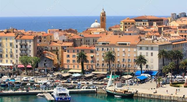 Geografía Pregunta Trivia: ¿Cuál es la capital de la isla de Córcega?
