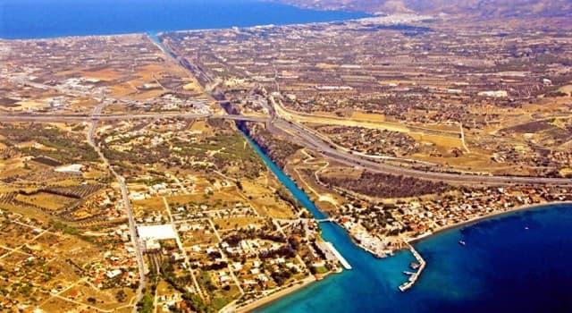 Geografía Pregunta Trivia: ¿Dónde se localiza el canal de Corinto?
