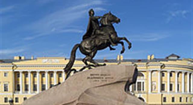 """Geografía Pregunta Trivia: ¿En homenaje a qué personaje histórico se levanta la estatua conocida como """"El Jinete de Bronce""""?"""