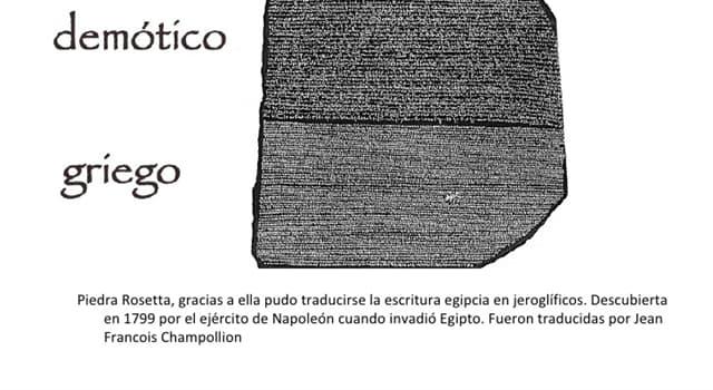 Cultura Pregunta Trivia: ¿En qué fecha fue encontrada la piedra Rosetta de Egipto?