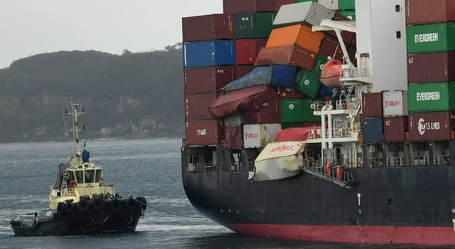 History Trivia Question: How many containers were lost overboard from the container vessel 'YM Efficiency' in Australian waters in June, 2018?
