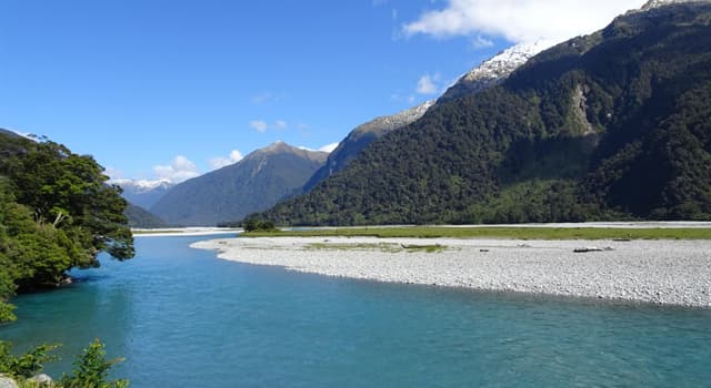 Geography Trivia Question: In which country would you find the Haast River?