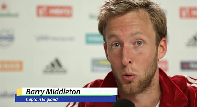 Sport Trivia Question: In which sport did Barry Middleton captain the English team in 2014?