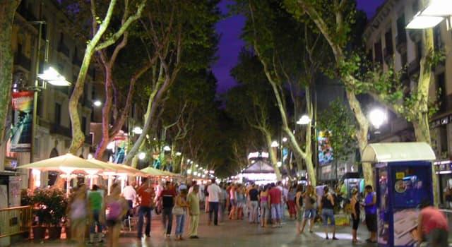 Geographie Wissensfrage: In welcher spanischen Stadt befindet sich die bekannte Straße La Rambla?