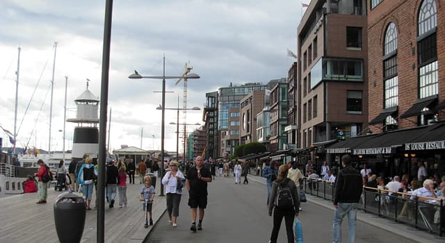 Geography Trivia Question: Aker Brygge is a popular meeting-place and tourist destination in which capital city?