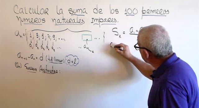 Сiencia Pregunta Trivia: ¿Cúal es la suma de los primeros 100 números impares positivos?