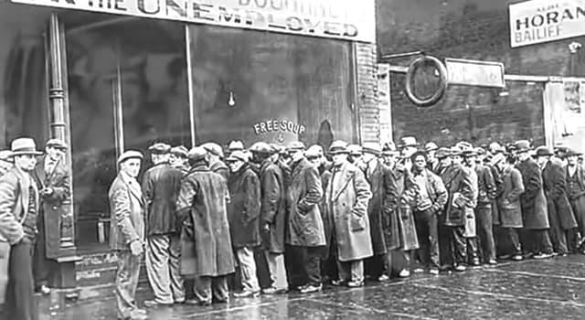 Historia Pregunta Trivia: ¿Cómo se denomina el período histórico que siguió al crack de 1929 en EEUU?