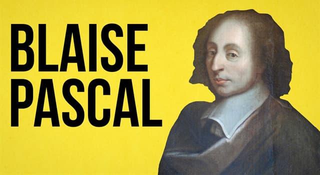 Сiencia Pregunta Trivia: ¿Cuál de las siguientes aportaciones matemáticas se debe a Blaise Pascal?