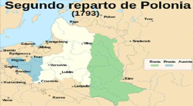 Historia Pregunta Trivia: ¿Cuál fue el motivo de la segunda partición del territorio de la Mancomunidad Polaco-Lituana?