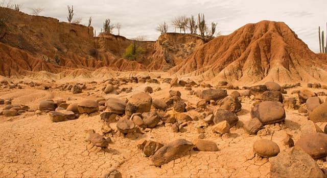 Geografía Pregunta Trivia: ¿En qué país se encuentra el Desierto de la Tatacoa?
