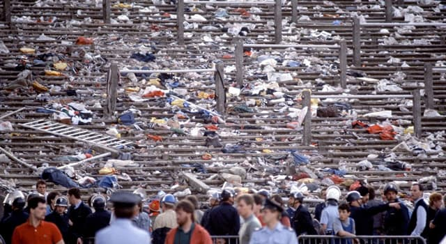 History Trivia Question: In which year was the Heysel Stadium disaster in Brussels, Belgium?
