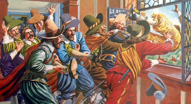 Historia Pregunta Trivia: La defenestración de Praga fue el detonante de la guerra de los Treinta Años.  ¿Quién o quiénes fueron lanzados por la ventana?