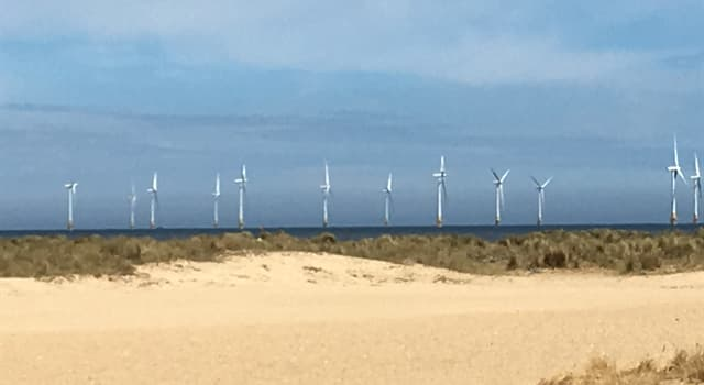 Geography Trivia Question: Scroby Sands Wind Farm is off the coast of which English seaside town?