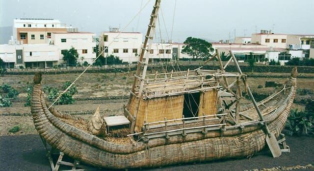 """Historia Pregunta Trivia: ¿Por qué motivo fracasó el viaje de la embarcación de papiros """"Ra"""" de Thor Heyerdahl?"""
