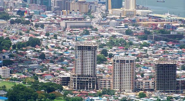 Geografía Pregunta Trivia: ¿Puerto España es la capital de qué país?