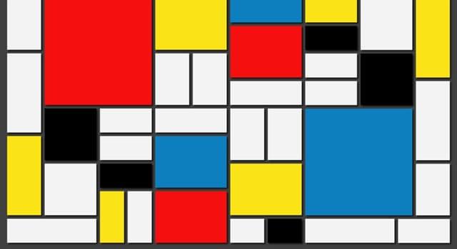 Cultura Pregunta Trivia: ¿Qué pintor empleaba figuras exclusivamente rectangulares y de colores puros como los de la imagen?