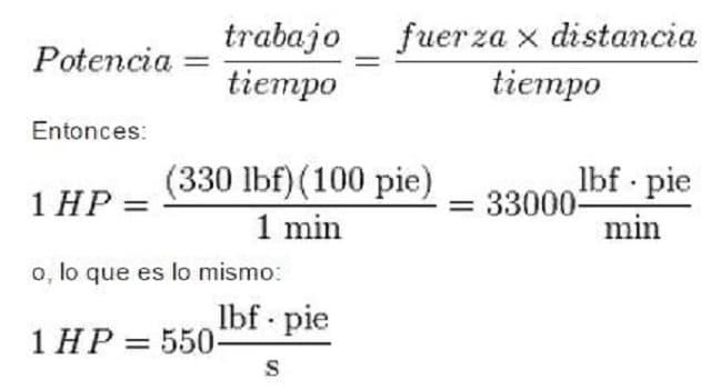 Сiencia Pregunta Trivia: ¿Qué término se define como: potencia necesaria para elevar verticalmente un peso de 33.000 libras, a la velocidad de 1 pie/minuto?