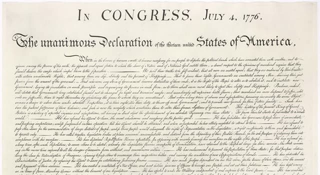 History Trivia Question: What is written on the back of the United States Declaration of Independence?
