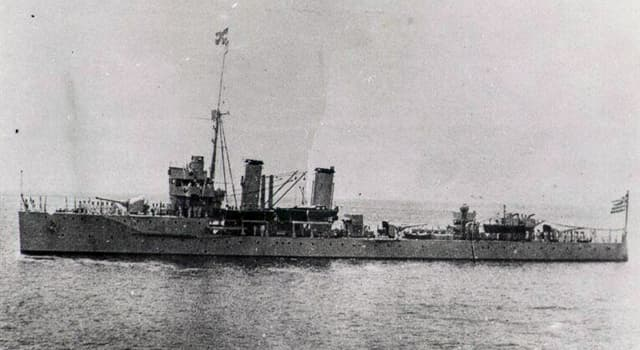History Trivia Question: What was the fate of the Greek cruiser-class warship Elli?