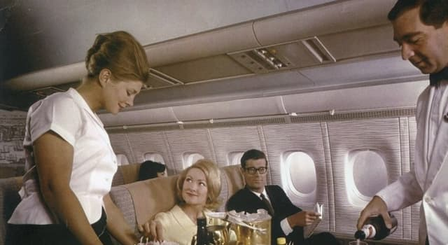 Society Trivia Question: When was two-tiered (first class) air travel established?