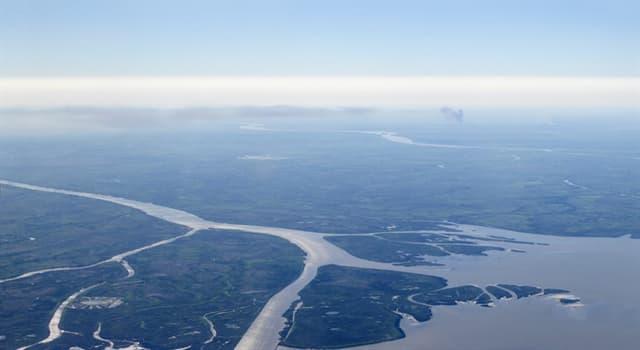 Geographie Wissensfrage: Welcher Fluss hat das weltweit größte Flussdelta?