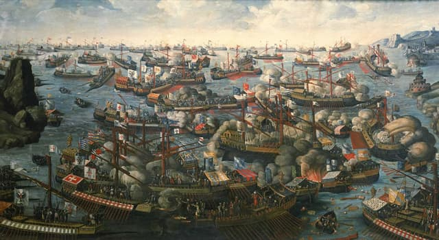 History Trivia Question: Which two opposing navies fought each other in the Battle of Ponza in 1552?