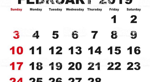 Historia Pregunta Trivia: ¿Desde qué siglo, febrero tiene 28 días?