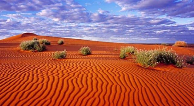 Geografía Pregunta Trivia: ¿Dónde se encuentra el desierto de Simpson?