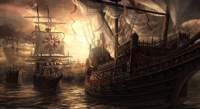 """История Вопрос: Какой стране принадлежал крупный военный флот """"Непобедимая армада""""?"""