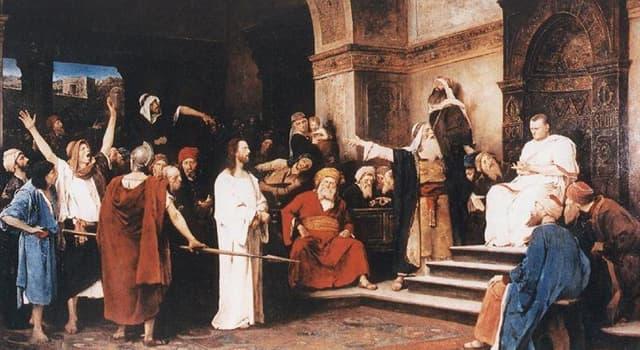 Культура Вопрос: Кто вынес решение о смертном приговоре Иисусу Христу?