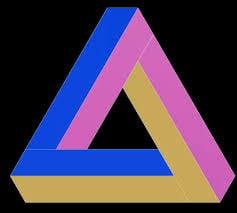 Сiencia Pregunta Trivia: ¿Qué característica tiene el llamado triángulo de Penrose?