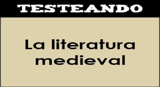 Cultura Pregunta Trivia: ¿Qué nombre recibe el texto épico que, en la Edad Media, se usaba para narrar las aventuras de un héroe?