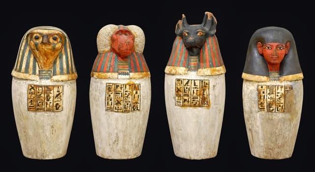 Historia Pregunta Trivia: ¿Qué uso le daban en los funerales a los vasos canopos en el antiguo Egipto?