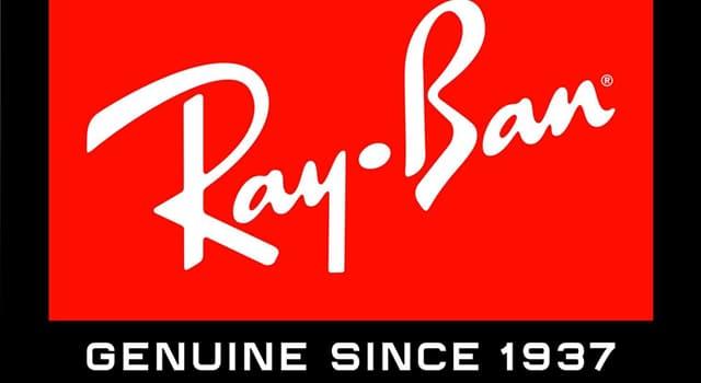 """Gesellschaft Wissensfrage: Was wird vom Unternehmen """"Ray-Ban"""" hergestellt?"""