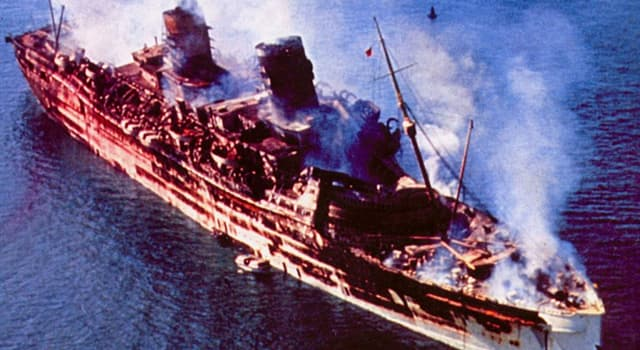 Culture Trivia Question: Which former transatlantic liner was destroyed by fire in Hong Kong in 1972?