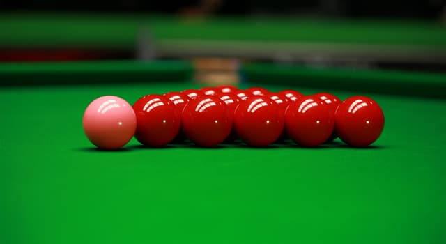Sport Trivia Question: Which colour is used as one of the coloured balls in the game of professional snooker?