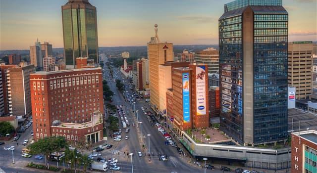География Вопрос: Какой город является столицей Зимбабве?