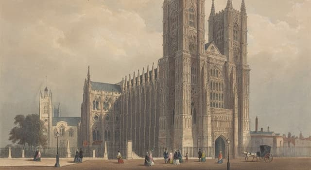 History Trivia Question: Westminster Abbey is home to what is believed to be the oldest contemporary portrait of an English monarch; whom does it depict?