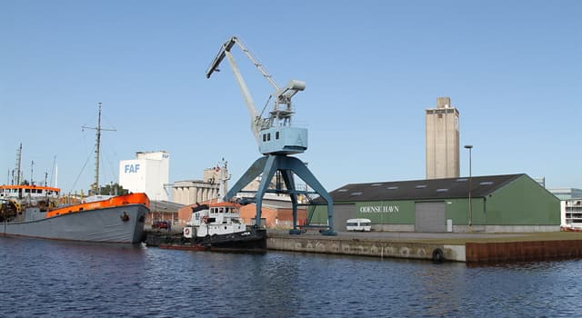 Geography Trivia Question: In which country is the port of Odense?