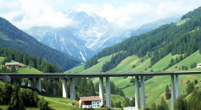 Geography Trivia Question: The Brenner Pass connects Italy with which country?