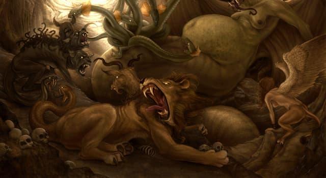 Kultur Wissensfrage: Wer ist in der griechischen Mythologie als Ungeheuer mit hundert Drachenköpfen dargestellt?