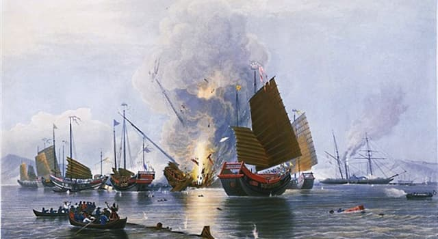 "History Trivia Question: Between which two countries was the ""First Opium War""?"