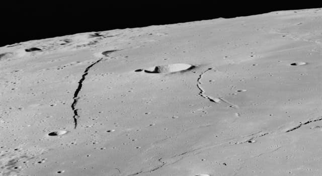 Science Trivia Question: How long is the linear fault Rupes Recta of the Moon?